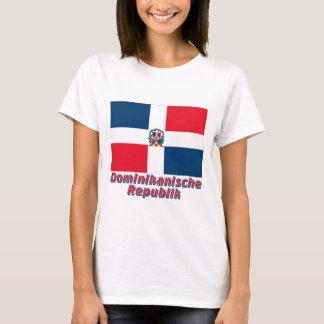 Dominikanische Republik Flagge mit Namen T-Shirt