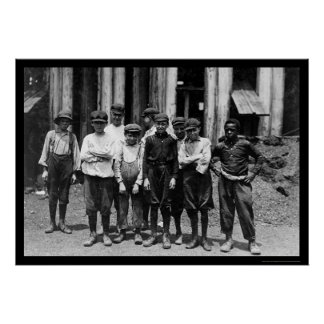 Dominion Glass Factory Worker Boys 1911 Print