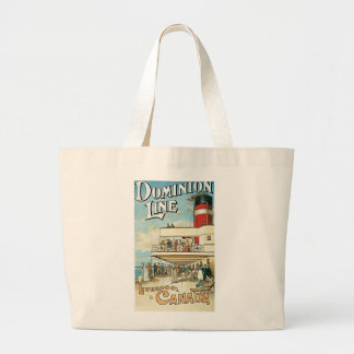 Dominion Line Liverpool To Canada Jumbo Tote Bag