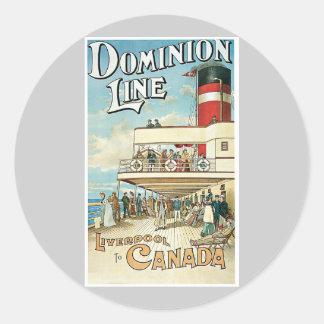 Dominion Line Liverpool To Canada Classic Round Sticker