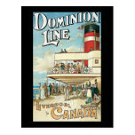 Dominion Line Liverpool to Canada Post Cards