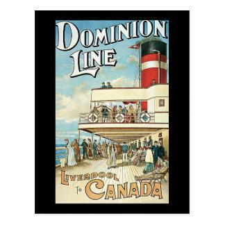 Dominion Line Liverpool to Canada Postcard