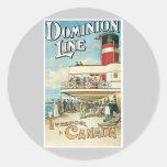 Dominion Line Liverpool To Canada Sticker