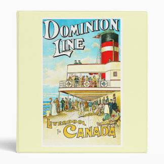 Dominion Line Liverpool to Canada Vintage 3 Ring Binder