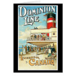 Dominion Line Passenger Ship Vintage Travel