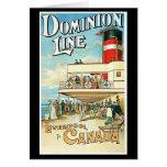 Dominion Line Passenger Ship Vintage Travel Greeting Cards