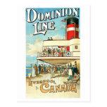 Dominion Line Passenger Ship Vintage Travel Postcards