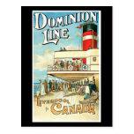 Dominion Line Passenger Ship Vintage Travel Post Cards