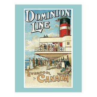 """Dominion Line"" Vintage Travel Poster Postcard"