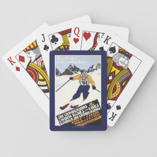 Dominion Ski Championship Poster Playing Cards