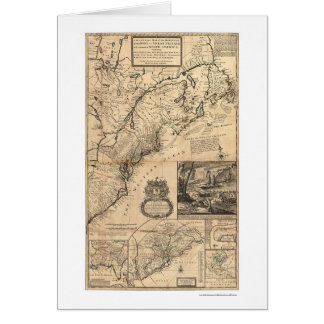 Dominions of the King Map 1732 Card