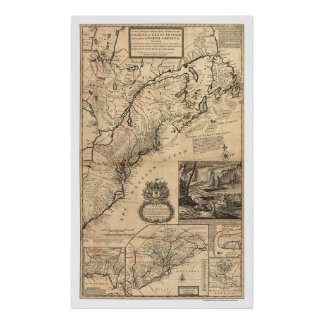 Dominions of the King Map 1732 Print