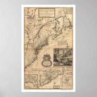 Dominios del rey Map 1732 Poster
