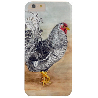 Dominique Chicken Rooster Watercolor Artwork Barely There iPhone 6 Plus Case