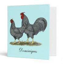 Dominique Chickens Binder