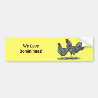 Dominique Chickens Bumper Sticker