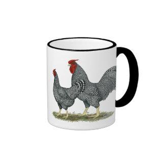 Dominique Chickens Ringer Coffee Mug
