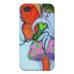 Dominique/fairy sitting on mushroom iPhone 4 cover