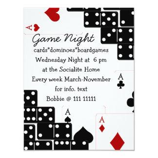 Domino Aces 4.25x5.5 Paper Invitation Card