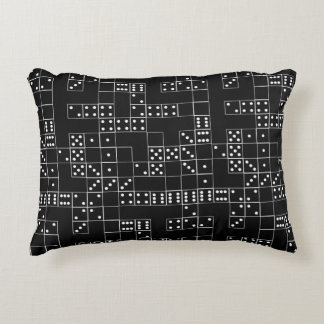 Domino BW Patterned Decorative Pillow