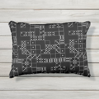 Domino BW Patterned Outdoor Pillow