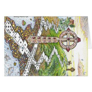 Domino Crosses Greeting Card