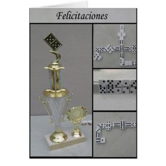 domino Felicitaciones Greeting Card
