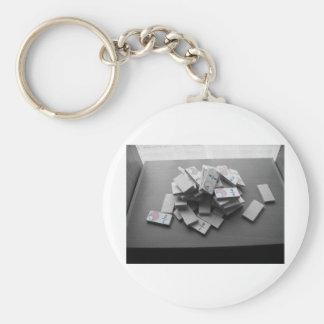 Domino Fraction Basic Round Button Keychain