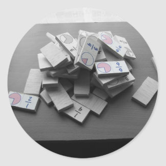 Domino Fraction Classic Round Sticker