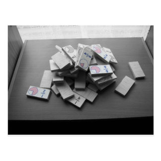 Domino Fraction Postcard