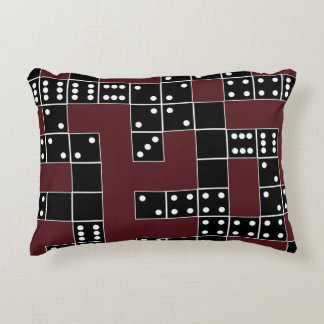 Domino Patterned Accent Pillow