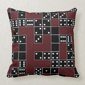 Domino Patterned Throw Pillow