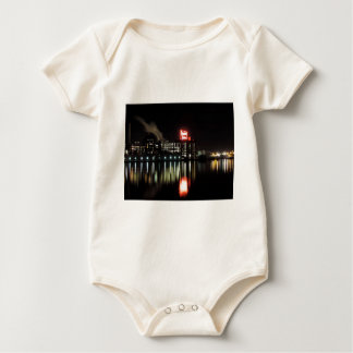 Domino Sugar Baltimore at Night Baby Bodysuit