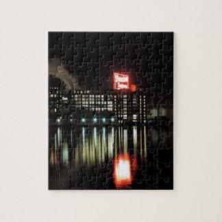 Domino Sugar Baltimore at Night Jigsaw Puzzle