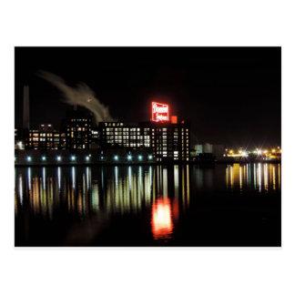 Domino Sugar Baltimore at Night Post Card