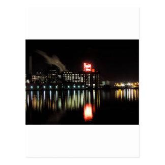 Domino Sugar Baltimore at Night Postcard