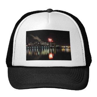 Domino Sugar Baltimore at Night Trucker Hats