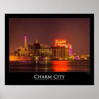 Domino Sugar in Purple - Charm City - Baltimore Poster