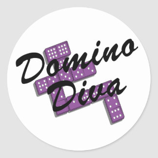 Domino T-shirts and Gifts. Classic Round Sticker