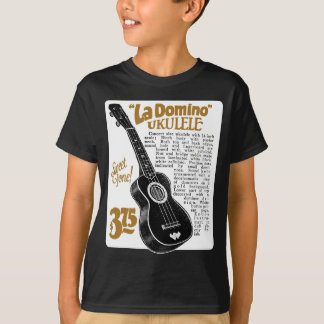 Domino Uke Ad Kid's dark short sleeve T-Shirt