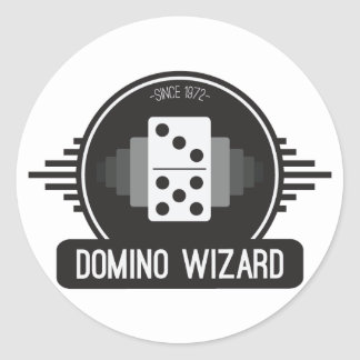Domino Wizard Official Logo Sticker 3""