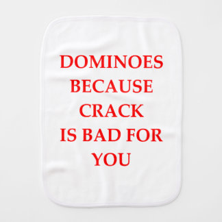 DOMINOES BURP CLOTH