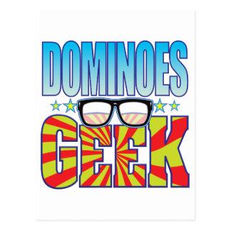 Dominoes Geek v4 Postcard