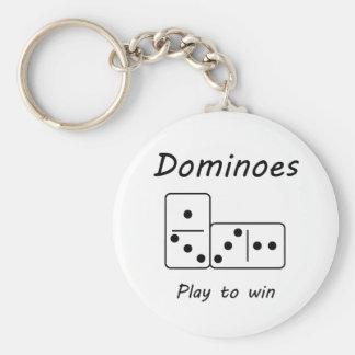 Dominoes Keychain