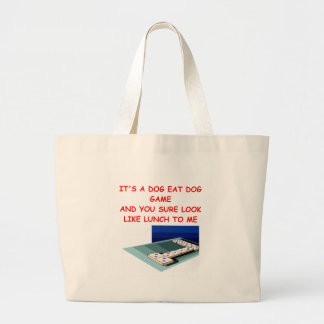 dominoes large tote bag