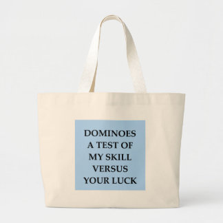 dominoes large tote bag