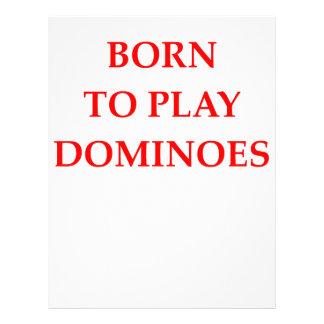 dominoes letterhead
