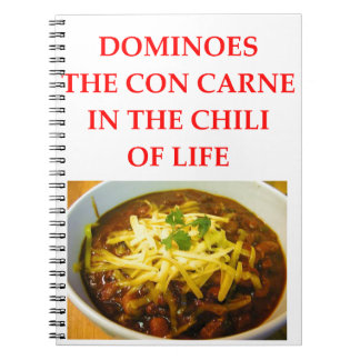 DOMINOES SPIRAL NOTEBOOK