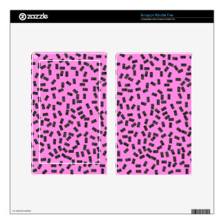 Dominoes on Pink Decal For Kindle Fire