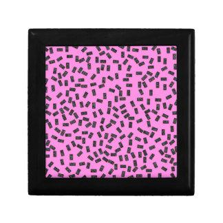 Dominoes on Pink Keepsake Box